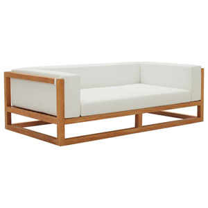 Darren Natural and White Sofa