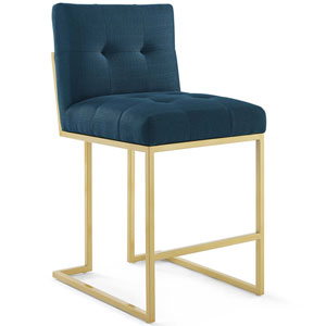 Cooper Gold and Blue Counter Stool