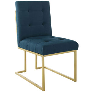 Cooper Gold and Blue Accent Chair
