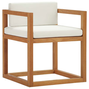 Darren Natural and White Patio Armchair