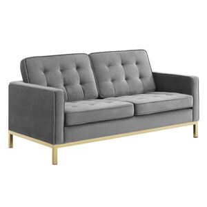 Cooper Gold and Gray Loveseat