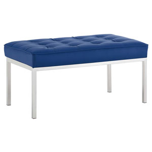 Cooper Silver and Navy Bench