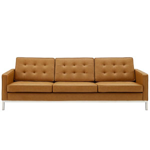 Uptown Silver and Tan Sofa