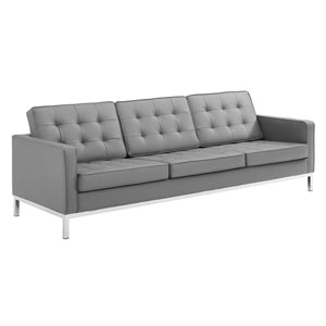 Uptown Silver and Gray Sofa
