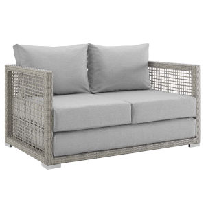 Roat Gray Outdoor Patio Loveseat