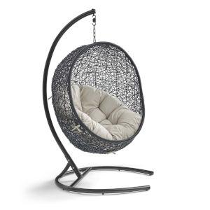 Darren Beige 40-Inch Outdoor Patio Lounge Swing Chair