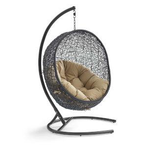 Darren Mocha 40-Inch Outdoor Patio Lounge Swing Chair