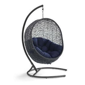 Darren Navy 40-Inch Outdoor Patio Lounge Swing Chair
