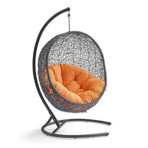 Darren Orange 40-Inch Outdoor Patio Lounge Swing Chair
