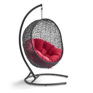 Darren Red 40-Inch Outdoor Patio Lounge Swing Chair