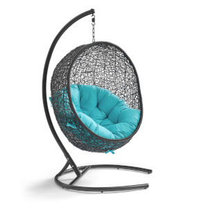 Darren Turquoise 40-Inch Outdoor Patio Lounge Swing Chair