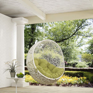 Darren White and Peridot 40-Inch Outdoor Patio Swing Chair