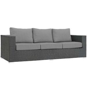 Darren Canvas Gray Outdoor Patio Sofa