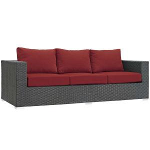 Darren Canvas Red Outdoor Patio Sofa