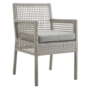 Roat Gray Outdoor Patio Dining Arm Chair
