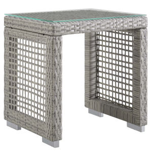 Roat Gray Outdoor Patio Side Table