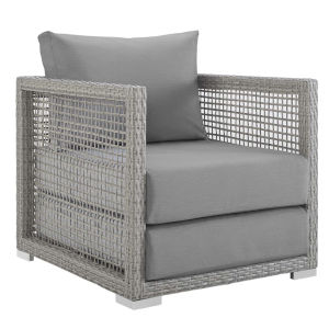 Roat Gray Outdoor Patio Arm Chair