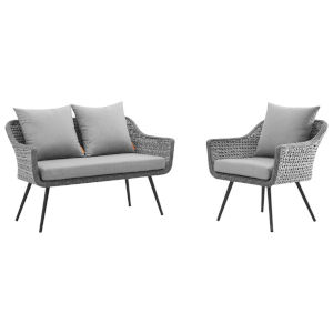 Taryn Gray Two Piece Outdoor Patio Two Piece Furniture Set