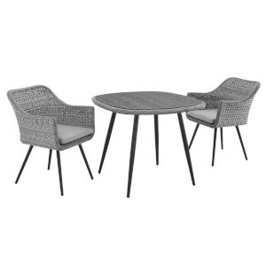 Taryn Gray Three Piece Outdoor Patio Dining Set