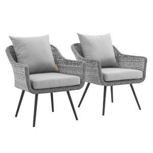 Taryn Gray Outdoor Patio Arm Chair, Set of 2