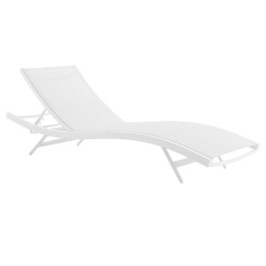 Taryn White Outdoor Patio Lounge Chair