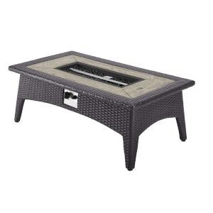 Darren Espresso 44-Inch Outdoor Patio Fire Pit Table