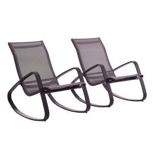 Taryn Black Outdoor Patio Lounge Chair, Set of 2