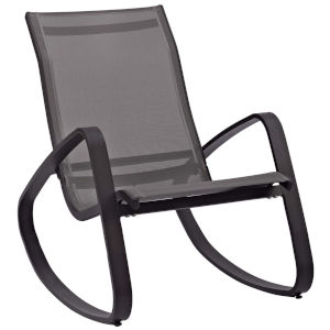 Taryn Black Outdoor Patio Sling Lounge Chair