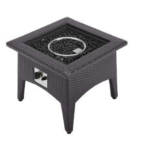 Darren Espresso Outdoor Patio Fire Pit Table