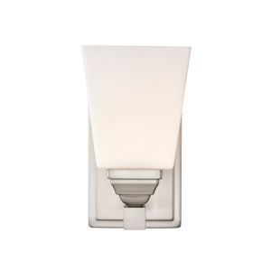Ava Brushed Nickel Five-Inch One-Light Wall Sconce