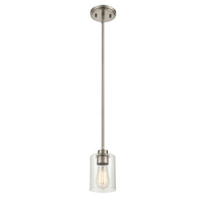 Cora Brushed Nickel Five-Inch One-Light Mini Pendant