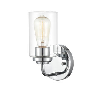 Cora Chrome Five-Inch One-Light Wall Sconce
