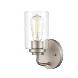 Cora Satin Nickel Five-Inch One-Light Wall Sconce