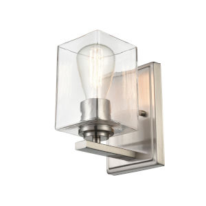 Essex Brushed Nickel Five-Inch One-Light Wall Sconce