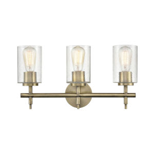 Irving Aged Brass 19-Inch Three-Light Bath Vanity