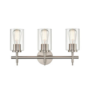 Irving Brushed Nickel 19-Inch Three-Light Bath Vanity