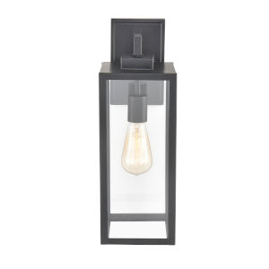 Artemis Powder Coat Black Six-Inch One-Light Outdoor Wall Sconce
