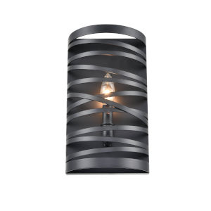 Castor Matte Black Seven-Inch One-Light Wall Sconce