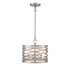 Castor Antique Nickel Nine-Inch Two-Light Mini Pendant