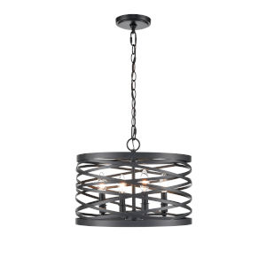 Castor Matte Black 16-Inch Four-Light Pendant