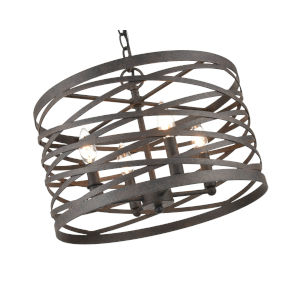 Castor Weathered Iron 16-Inch Four-Light Pendant