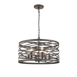 Castor Weathered Iron 20-Inch Six-Light Pendant