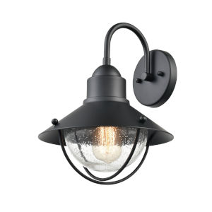 Finn Matte Black 11-Inch One-Light Outdoor Wall Sconce