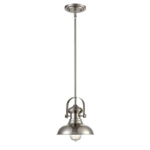 Hayes Brushed Nickel Eight-Inch One-Light Mini Pendant