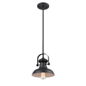Hayes Matte Black Eight-Inch One-Light Mini Pendant