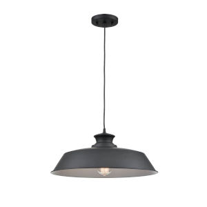 Hayes Matte Black 18-Inch One-Light Pendant