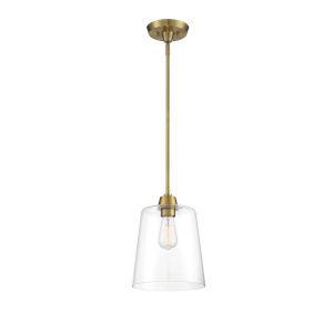 Bryant Natural Brass One-Light Mini Pendant