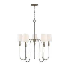 Anita Aged Wood Five-Light Chandelier