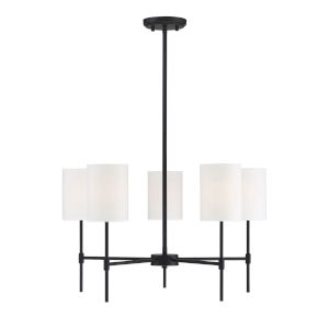 Kate Matte Black Five-Light Chandelier