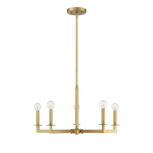 Essex Natural Brass Five-Light Chandelier